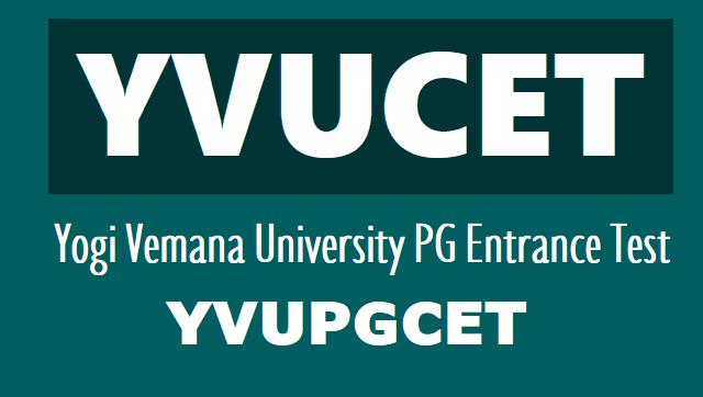 YVU PGCET 2020 notification - Yogi Vemana University pg admission