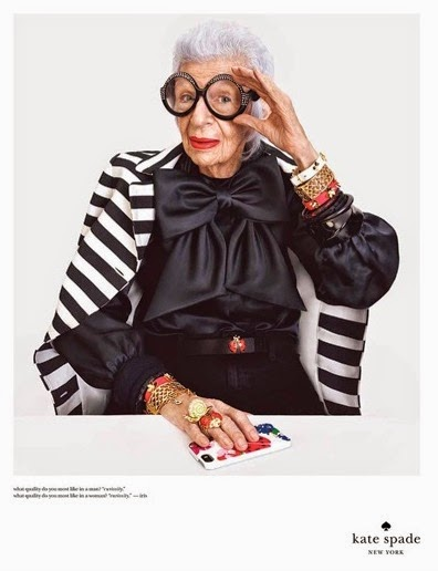 Mature Models: Iris Apfel for Kate Spade