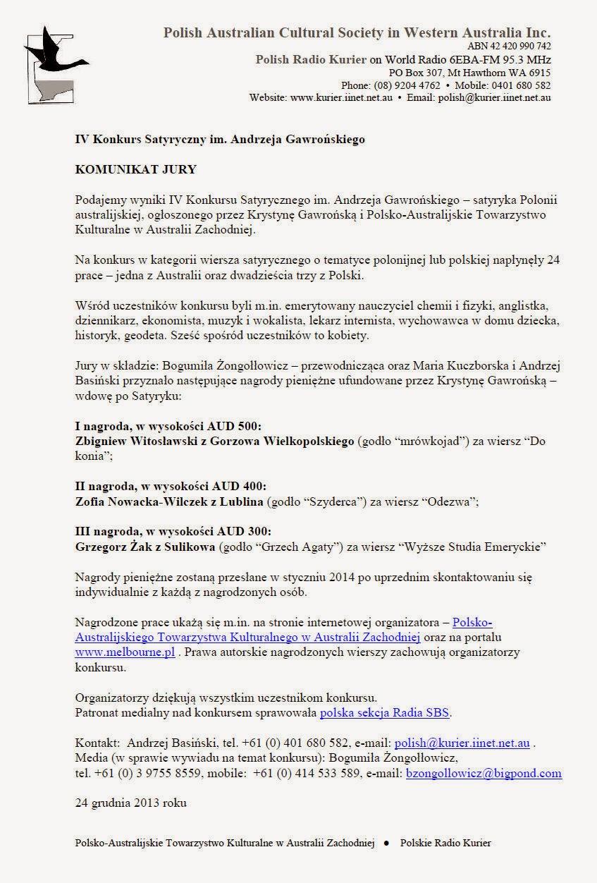 Bumerang Polski Tablica Stycznia 2014