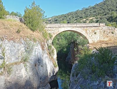 Puente de Tagüenza, cerca de Huertapelayo, en la provincia de Guadalajara