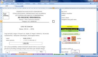 aplikasi cetak untuk pengumuman kelulusan