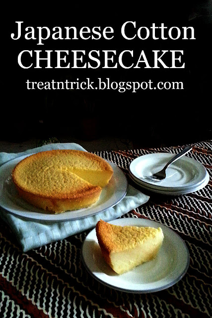 Japanese Cotton Cheesecake Recipe @ treatntrick.blogspot.com