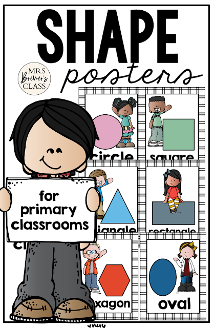 Shape Posters for the classroom in Kindergarten and First Grade