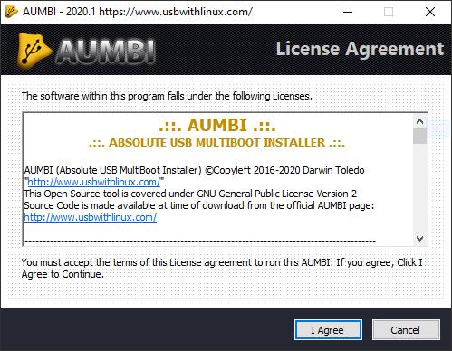 AUMBI - License