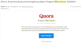 Daftar Program Mitra Quora