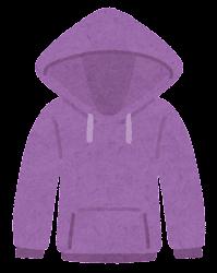 パーカーのイラスト(紫)