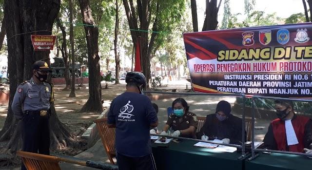 Bukti Kesriusan Pemerintah Kab.Nganjuk Dalam Penanganan Covid-19,Hari ini Adakan Ops Yustisi Bersama TNI-POLRI dan Kejari