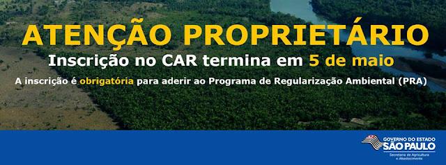 Inscrição no CAR em Iguape acontece até dia 05 de maio