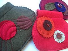 Fuzzy, Felty Flex-Frame Purses