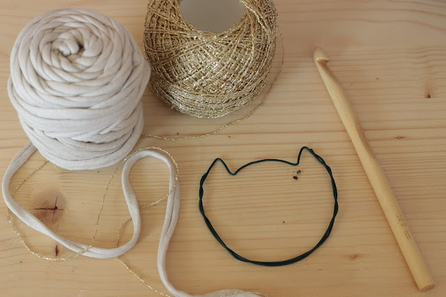 diy collier chat en trapilho