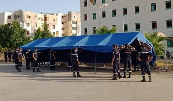 نصب 8 خيم لتعزيز طاقة إستيعاب مستشفى الأختان باج بالشلف