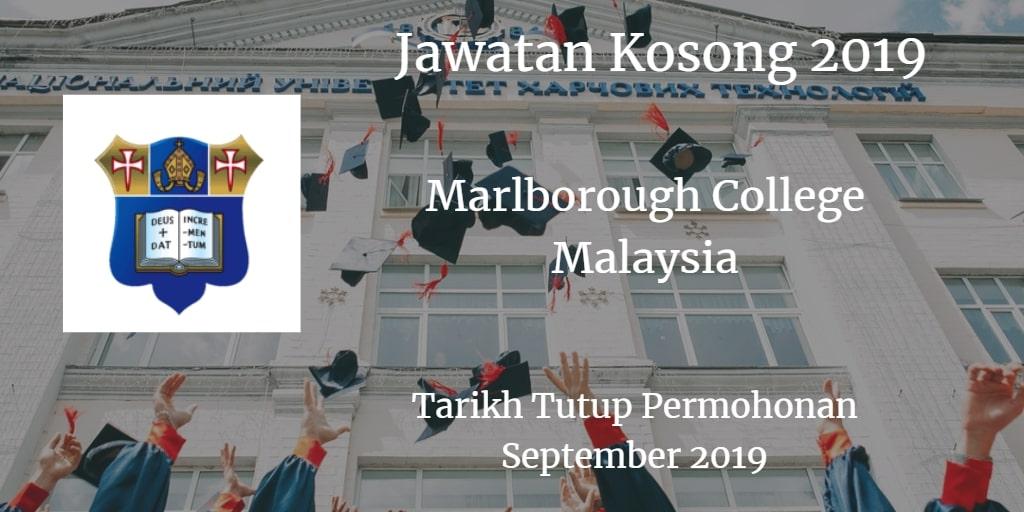 Jawatan Kosong Marlborough College Malaysia September 2019