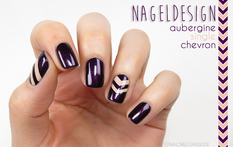 [Nageldesign] aubergine single chevron - nails reloaded by ...