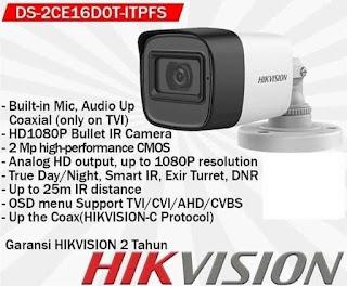 CCTV HIKVISION DS-2CE16D0T-ITPFS 2.8MM