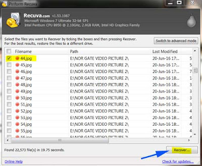 recover all files using recuva