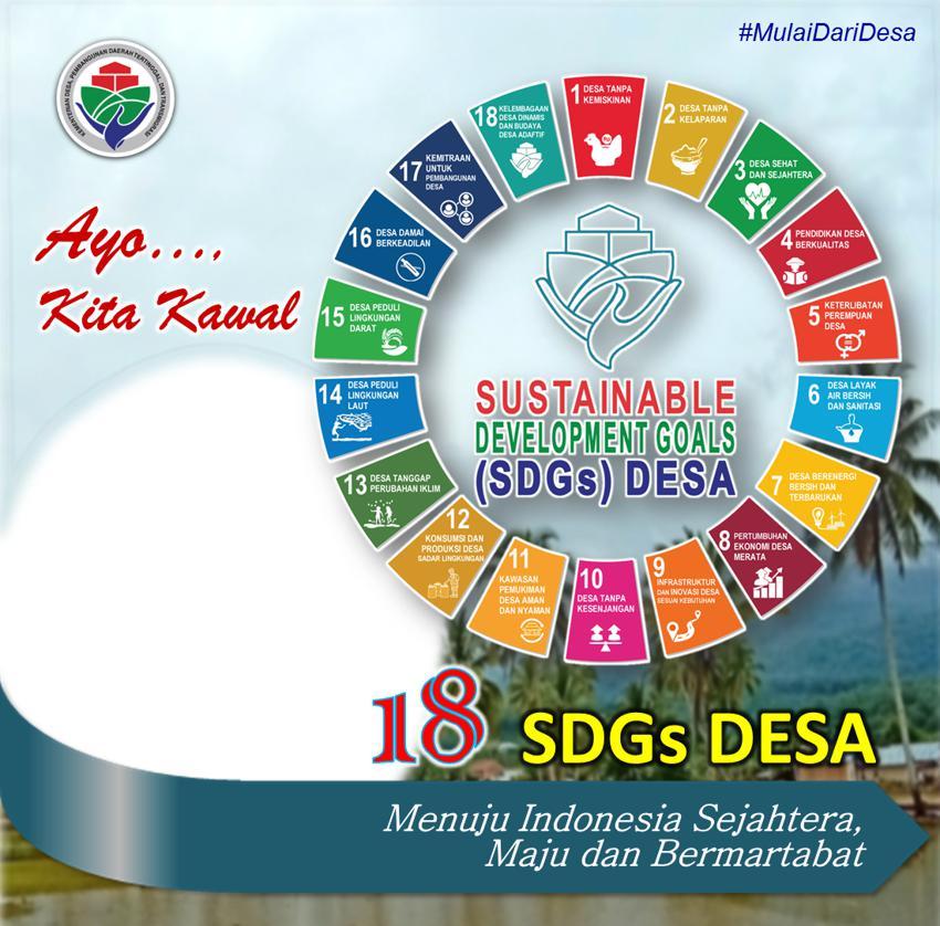 Desain Frame Twibbon Ayo kawal SDGs Desa 2021
