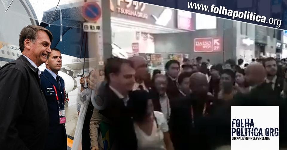 Na chegada ao Japão, populares fazem fila para tirar fotos com Bolsonaro