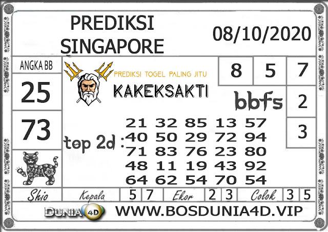 Prediksi Togel SINGAPORE DUNIA4D 08 OKTOBER 2020