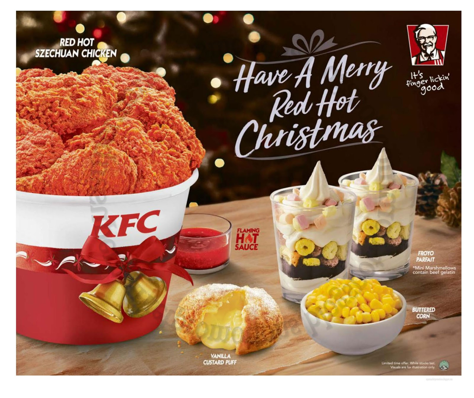 KFC Merry Red Hot Christmas 25 December 2017 ~ Supermarket Promotions