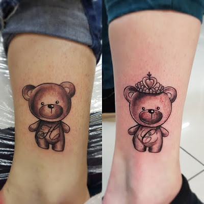 ankle teddy bear tattoo