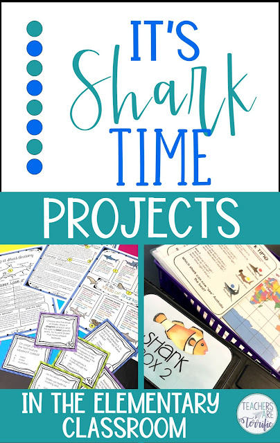 This blog post includes many ideas, tips, and resources for celebrating sharks in the elementary classroom. From Escape Rooms to flip books to STEM Challenges, and more!