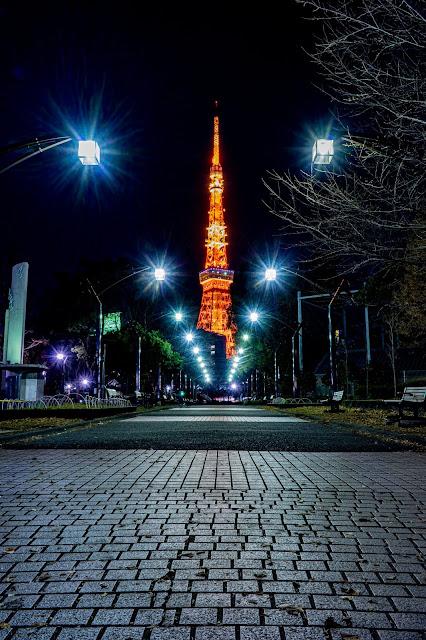 東京タワー,芝公園,光芒