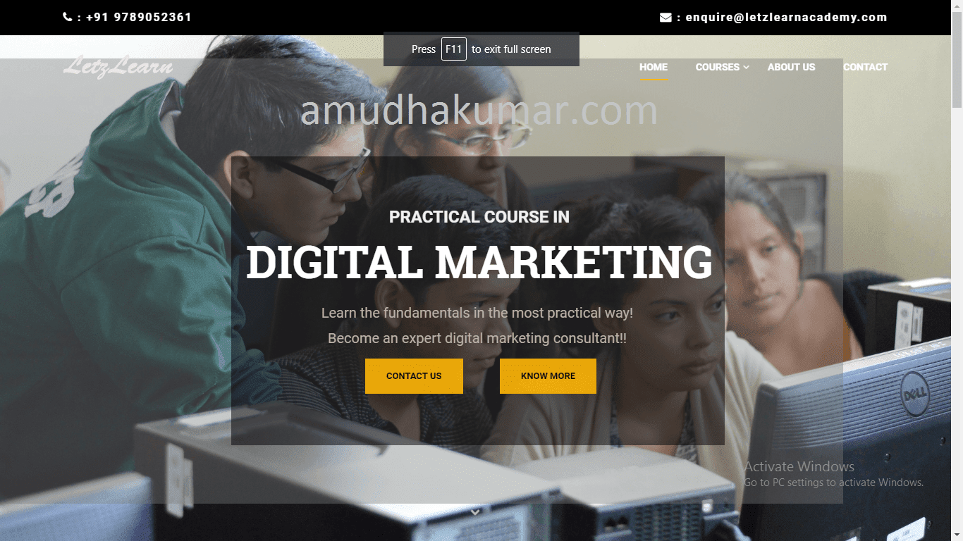 Letz Learn Acadamy Digital Marketing Training in Chennai Amduhakumar