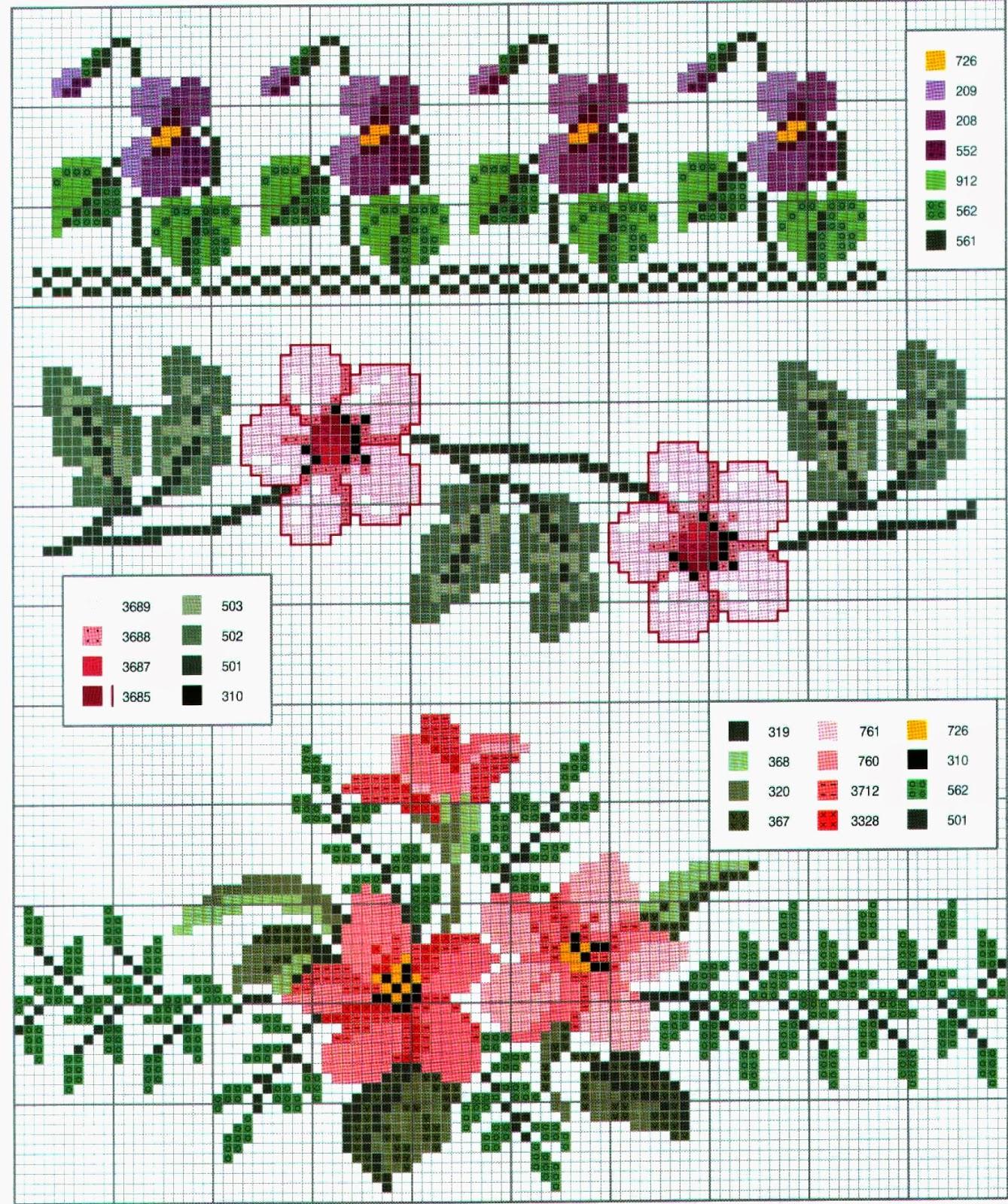 Ricami e schemi a punto croce gratuiti schemi a punto for Schemi punto croce fiori e farfalle