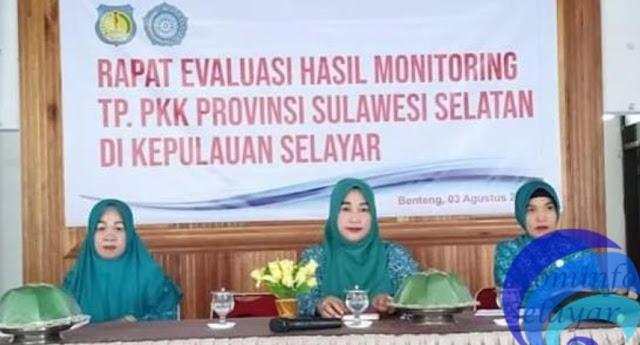 Ketua TP. PKK, Pimpin Rapat Evaluasi Hasil Monitoring