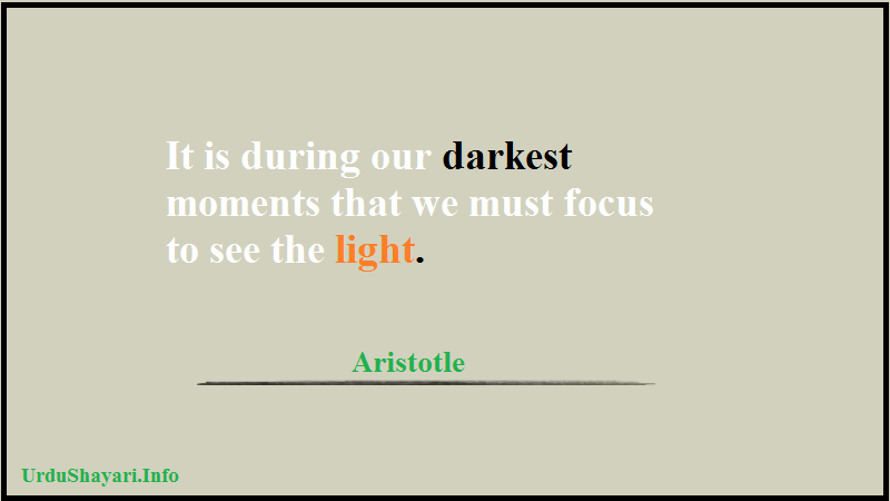Stay Motivated in bad time quote, positivity, Light, Focus, Aristotle, Words of Wisdom