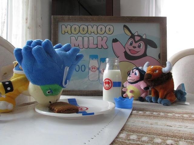 Ludwig Von Koopa Plushwig Moomoo Milk plates bottles Miltank Tauros plushies sign
