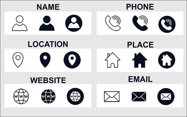 Contact Icons pack vector