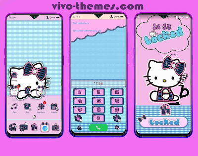 New Hello Kitty Pink Themes For Vivo Android Phone