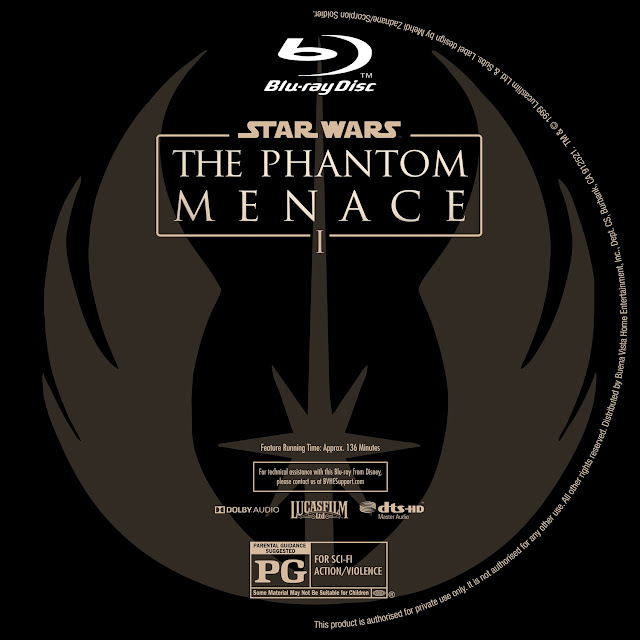 Star Wars: Episode I - The Phantom Menace Bluray Label
