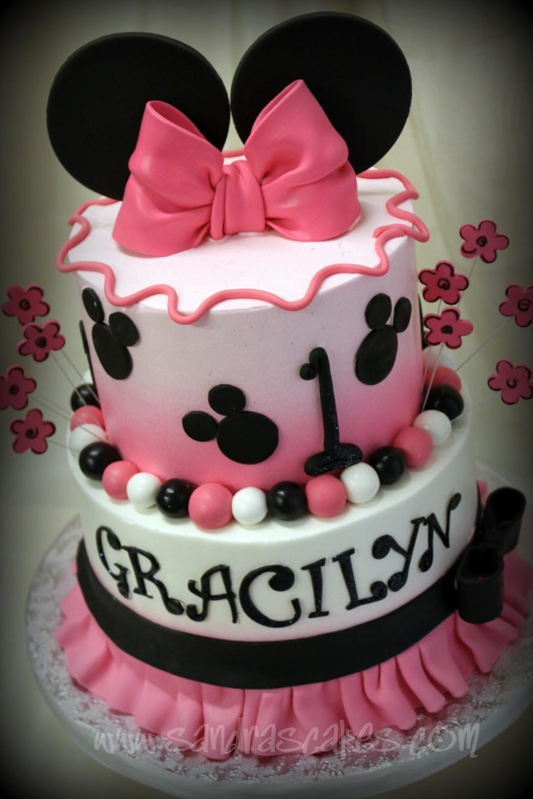 Minnie Themed Birthday Cake