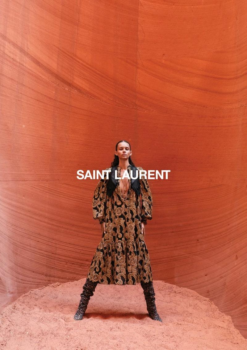 Binx Walton appears in Saint Laurent summer 2020 campaign