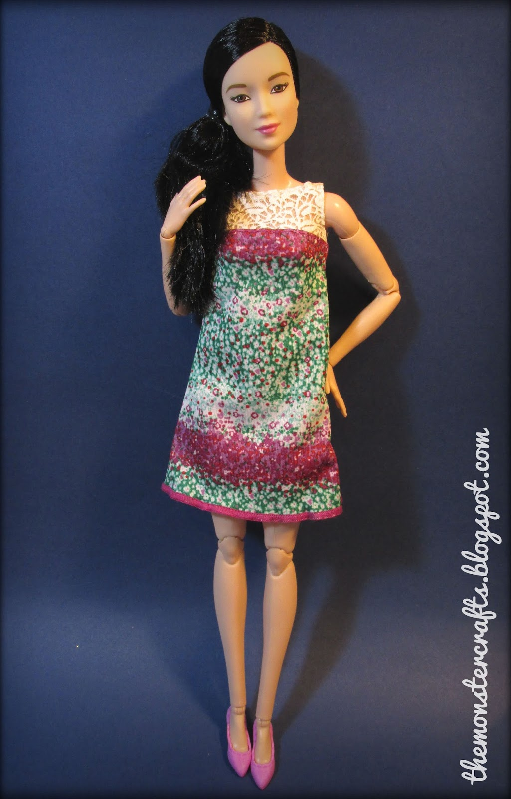 "Monster Crafts: Doll review: Barbie Made to Move ""Purple Top"""