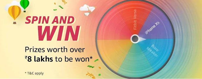 Amazon Spin & Win – Amazon Pay, Mi Band, Watch