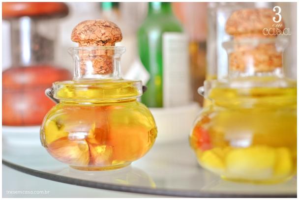 azeite aromatizado com alho