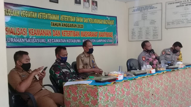 Polres Lampura Melalui Kapolpos Kecamatan Kotabumi Gelar Kegiatan Sosialisasi Babinkantibmas Dengan Masyarakat