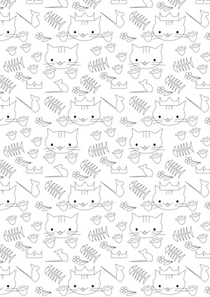 free digital cat scrapbooking paper ausdruckbares geschenkpapier freebie meinlilapark. Black Bedroom Furniture Sets. Home Design Ideas