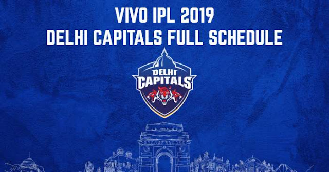 VIVO IPL 2019 Delhi Capitals (DC) Full Schedule