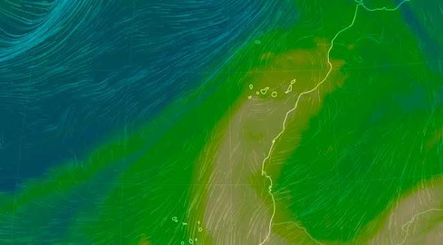 La calima en altos niveles en Canarias Octubre - Noviembre 2019