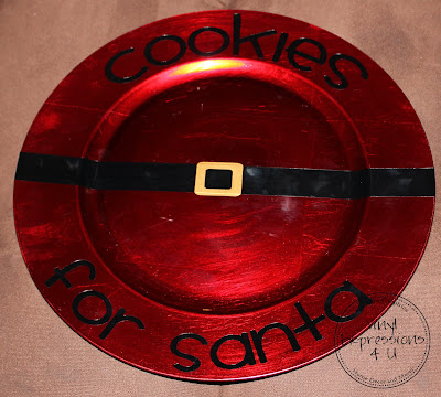 Vinyl Expressions Cookies For Santa Plate
