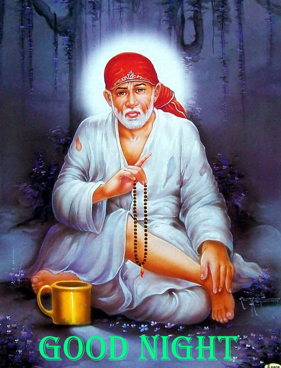 Sai Baba Good Night Wallpaper