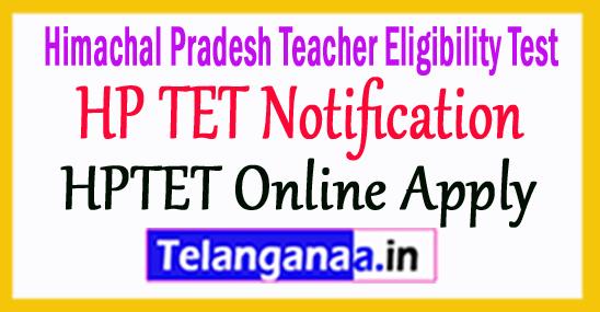 HP TET Notification 2018 Apply Online