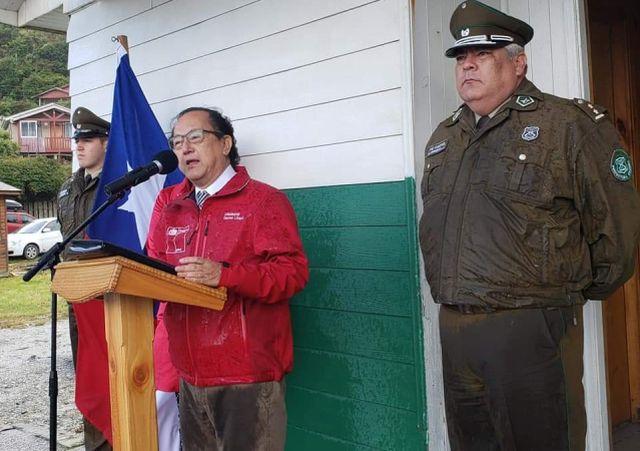 Gobernador Daniel Lilayú y Prefecto (S) Miguel Herrera