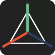 Icon of a 3D maker Android app called prisma 3d
