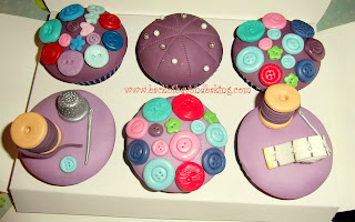 purple sewing cupcakes