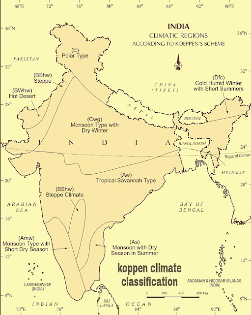 climate of india classified by koppen